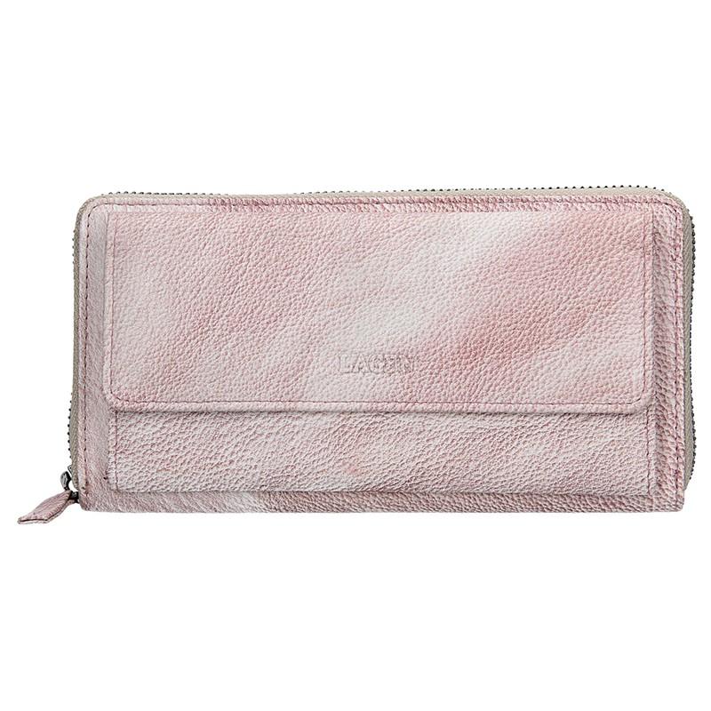 Dámska kožená peňaženka Lagen Maria - svetlo fialová