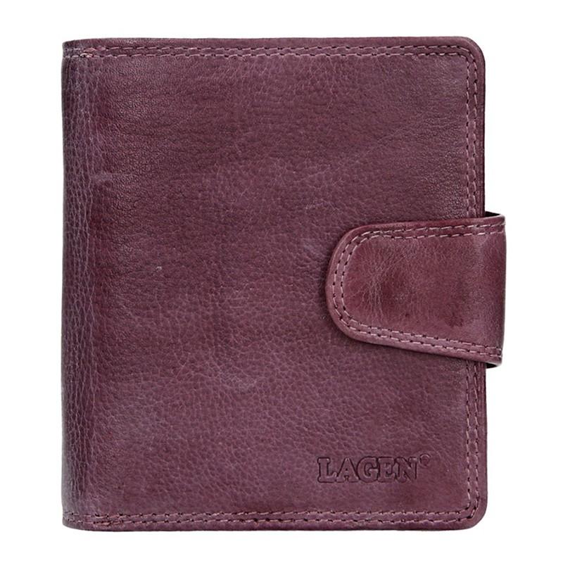 Dámska kožená peňaženka Lagen Marla - fialová