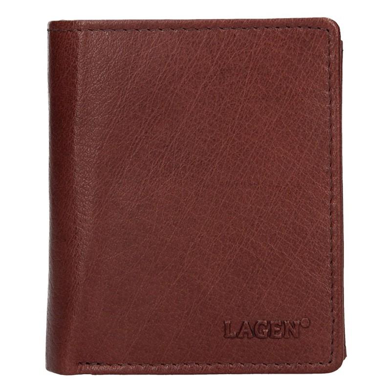 Pánska kožená peňaženka Lagen Xaver - hnedá