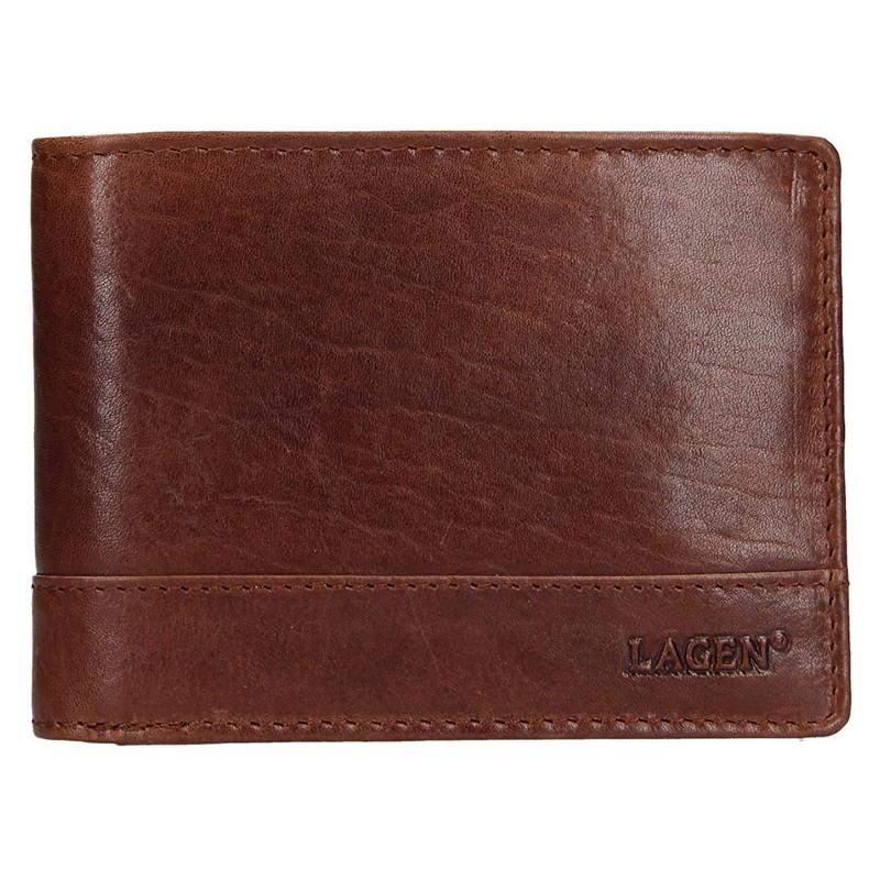 Pánska kožená peňaženka Lagen Lorenc - hnedá