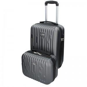 Sada dvoch cestovných kufrov Airtex Worldline Kuga - sivá