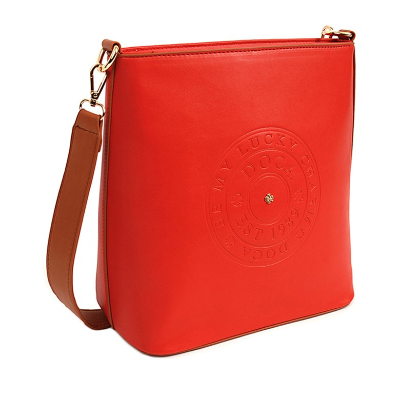 Dámska crossbody kabelka Doca 14516 - červená