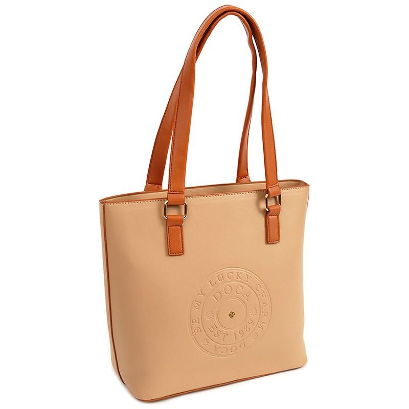 Dámska kabelka Doca 14512 - béžová