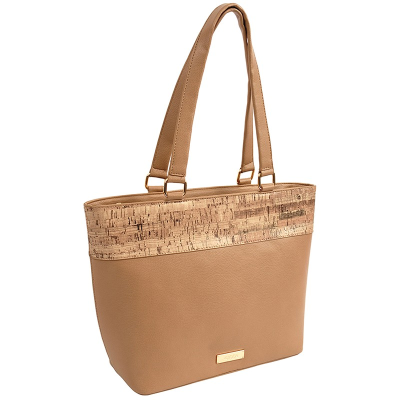 Dámska kabelka Doca 14919 - béžová