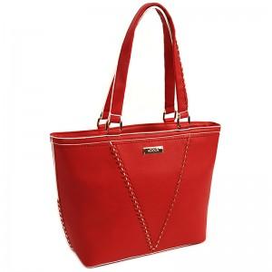 Dámska kabelka Doca 14490 - červená
