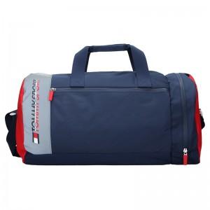 Pánska taška cez rameno Tommy Hilfiger Jeans Sport - čierno-červená