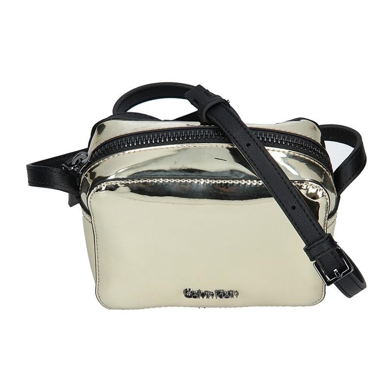 Dámska crossbody kabelka Calvin Klein Líza - zlatá
