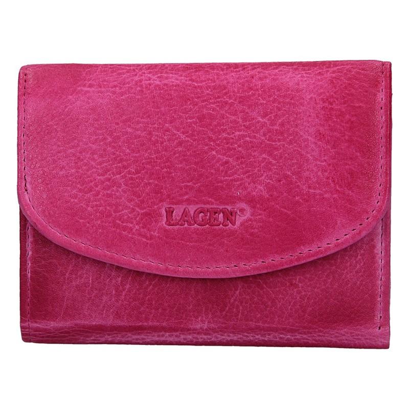 Dámska kožená peňaženka Lagen Norra - ružová
