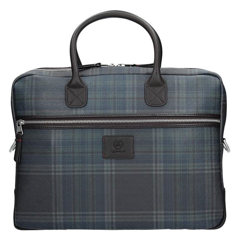 Pánska pracovná taška Lerros Kevin - modro-hnedá