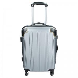 Cestovný kufor Madisson Michaela S - strieborná