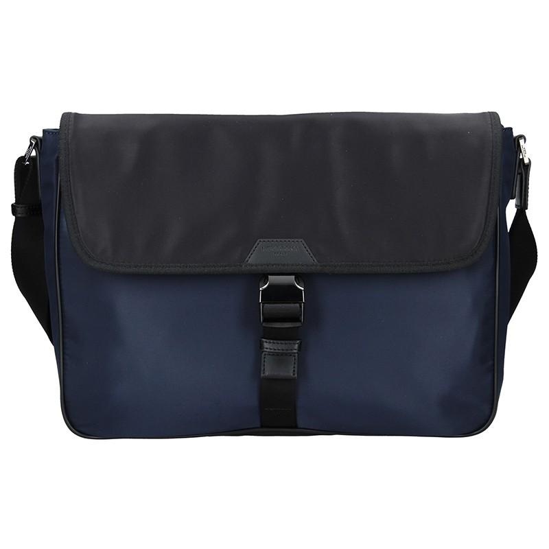 Pánska taška cez rameno Hexagona Quido - modro-čierna