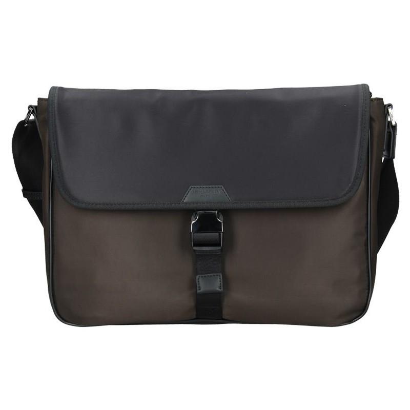 Pánska taška cez rameno Hexagona Quido - hnedo-čierna