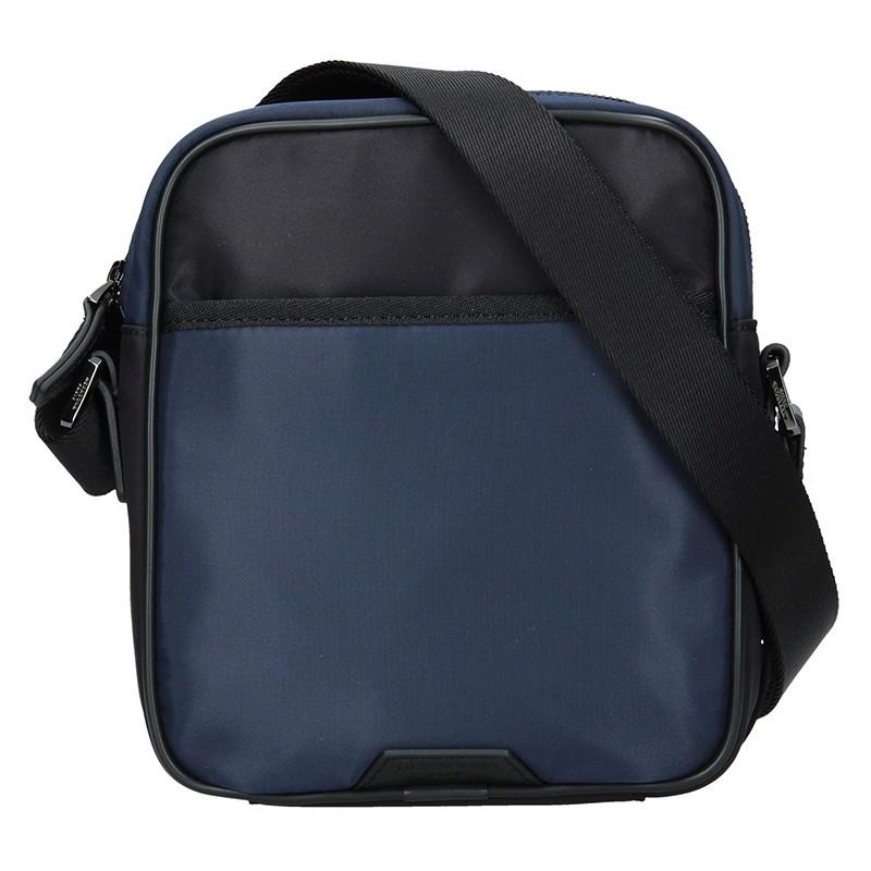 Pánska taška cez rameno Hexagon Moris - čierno-modrá