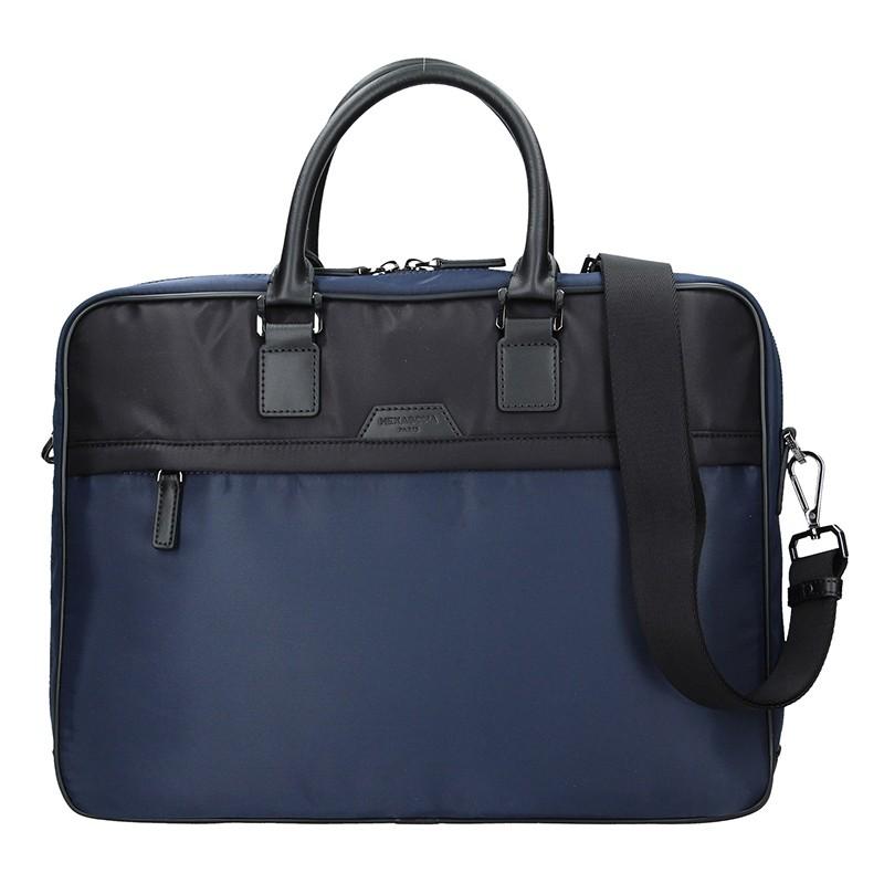 Pánska taška na notebook Hexagon Aarvold - modro-čierna