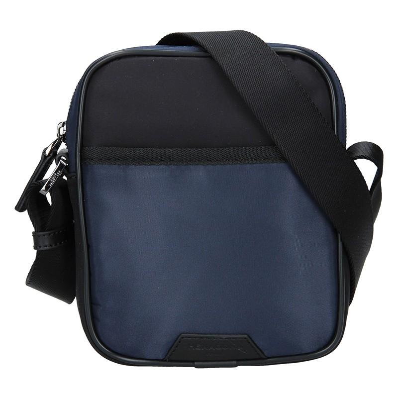 Pánska taška cez rameno Hexagona Bergh - čierno-modrá