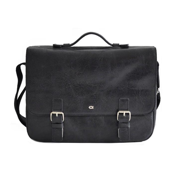 Pánska kožená taška Daag Wanted - čierna