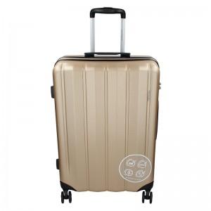 Sada 3 cestovných kufrov Marina Galanti Nova S, M, L - zlatá