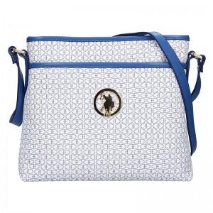 Dámska crossbody kabelka U.S. POLO Ritta - bielo-modrá