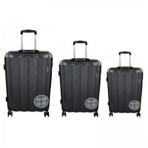 Sada 3 cestovných kufrov Marina Galanti Nova S, M, L - čierná