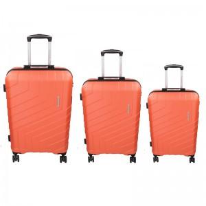Sada 3 cestovných kufrov Marina Galanti Reno S, M, L - lososová