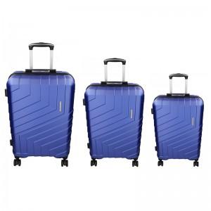 Sada 3 cestovných kufrov Marina Galanti Reno S, M, L - modrá