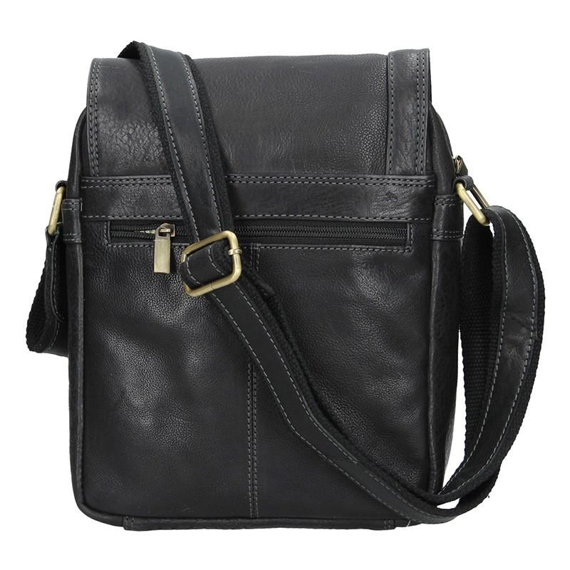 6b8832ee1d Pánska kožená taška cez rameno SendiDesign Fergus - čierna