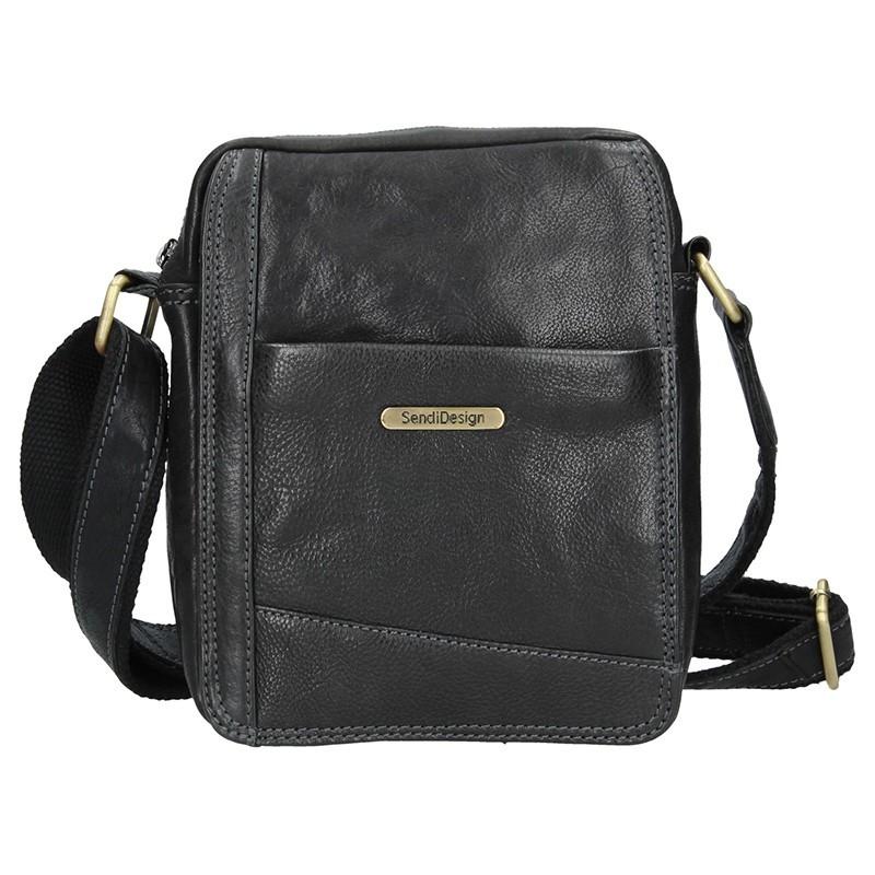 0efae3511 Pánska kožená taška cez rameno SendiDesign Egito - hnedá. Pánska kožená  taška cez rameno SendiDesign Egito - hnedá Přiblížit