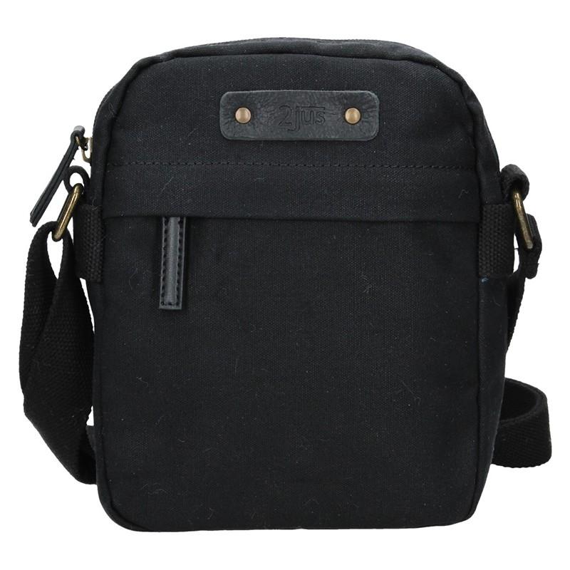 Pánska taška cez rameno 2JUS Monet - čierna