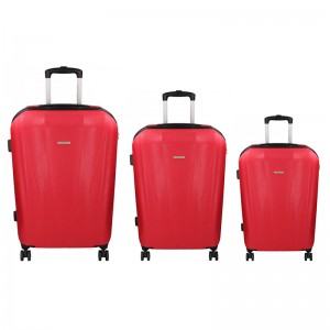 Sada 3 cestovných kufrov Marina Galanti Fuerta S, M, L - červená