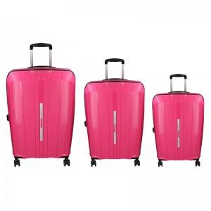 Sada 3 cestovných kufrov Snowball Barcelona S, M, L - ružová