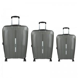 Sada 3 cestovných kufrov Snowball Barcelona S, M, L - sivá