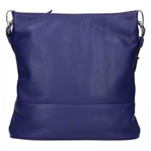 Trendy dámska kožená crossbody kabelka Facebag Nicol - olivová