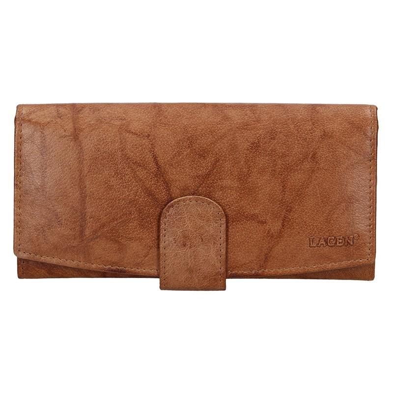 Dámska kožená peňaženka Lagen Silvia - hnedá