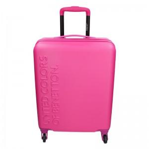 Kabínový cestovný kufor United Colors of Benetton Aura - růžová