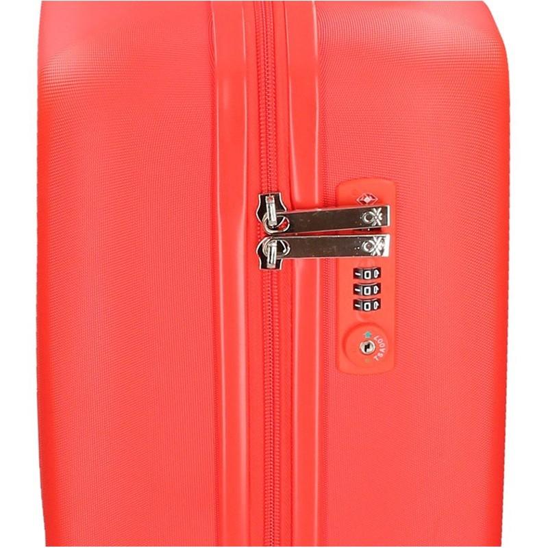 Kabínový cestovný kufor United Colors of Benetton Timis - červená