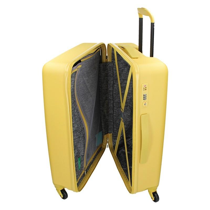 Kabínový cestovný kufor United Colors of Benetton Aura - červená