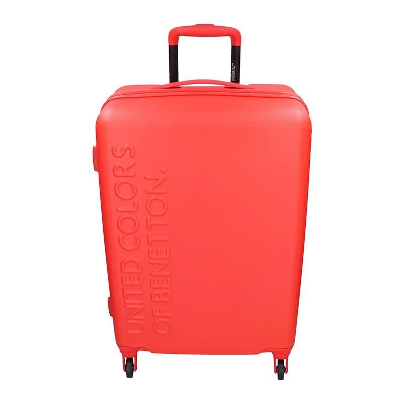 Cestovný kufor United Colors of Benetton Aura M - červená