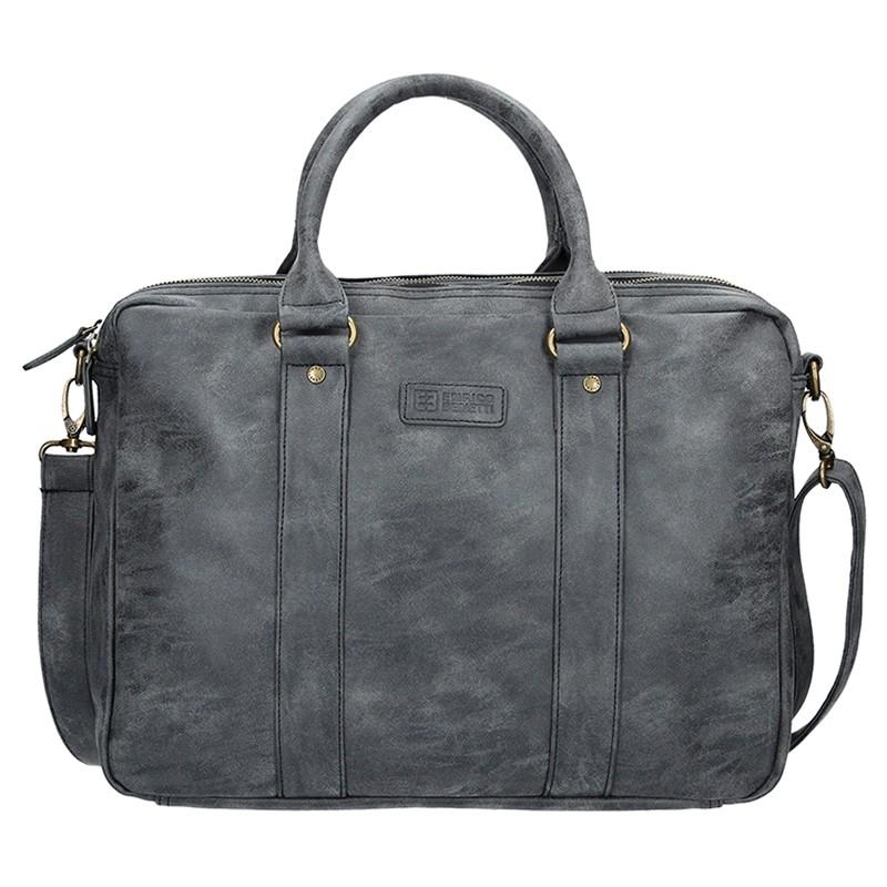 Pánska taška cez rameno Enrico Benetti Madrid - čierno-šedá