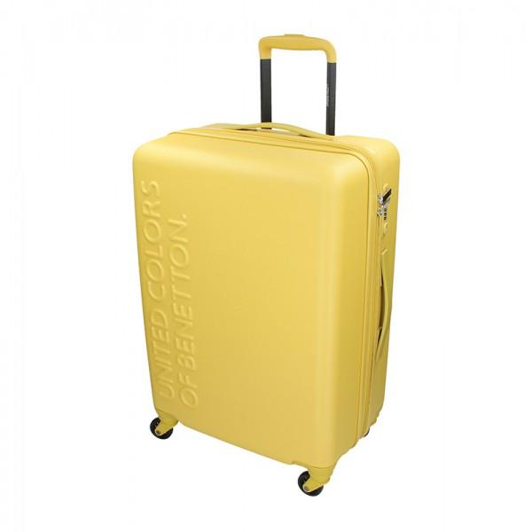 Kabínový cestovný kufor United Colors of Benetton Aura S - žltá