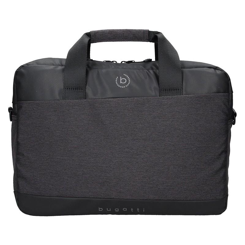 Pánska taška na notebook Bugatti Lopes - čierno-šedá