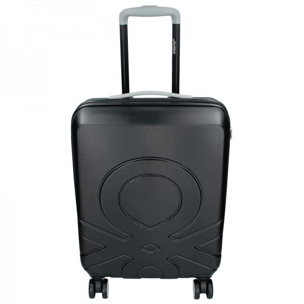 Kabínový cestovný kufor United Colors of Benetton Kanes S - čierna