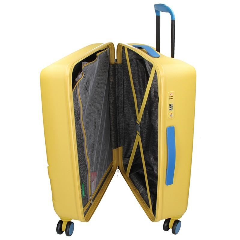 Kabínový cestovný kufor United Colors of Benetton Kanes S - žltá