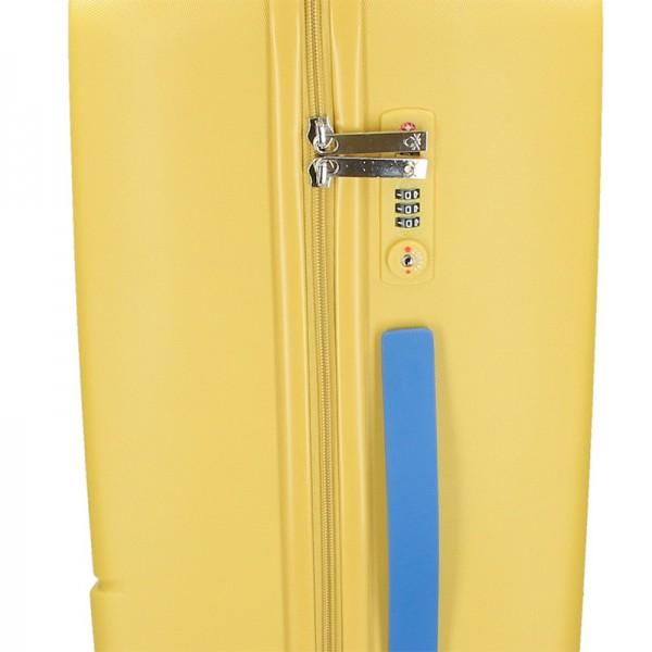 Cestovný kufor United Colors of Benetton Kanes M - žltáa
