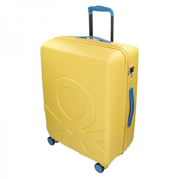 Cestovný kufor United Colors of Benetton Kanes L - žltá