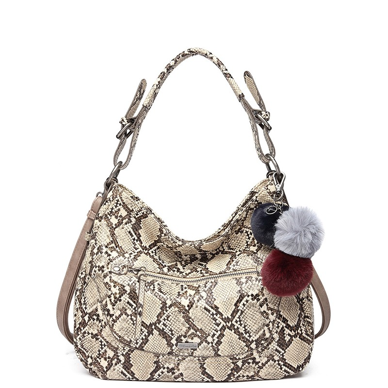 Dámska kabelka Tamaris Snake - béžová