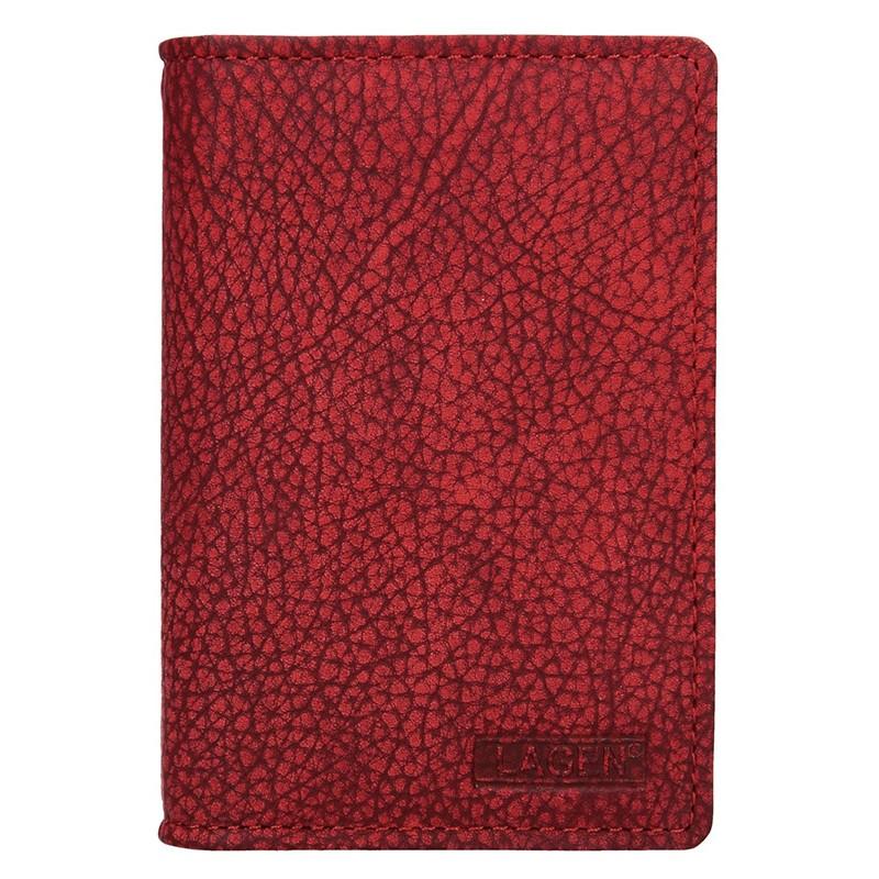 Dámske kožené púzdro na doklady Lagen Sabine - červená