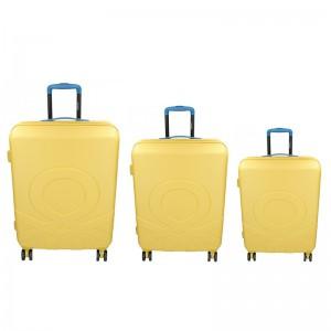 Sada 3 cestovných kufrov United Colors of Benetton Kanes S,M,L - žltá