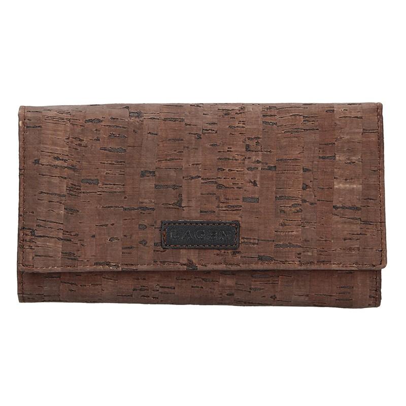 Dámska kožená peňaženka Lagen Zina - hnedá