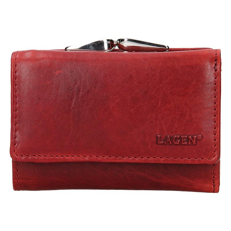 Dámska kožená peňaženka Lagen Stela - červená