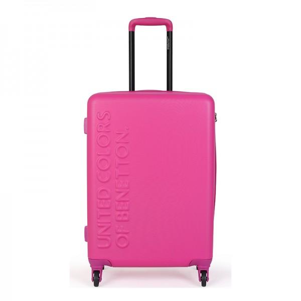 Cestovný kufor United Colors of Benetton Timis - ružová